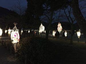 桂川のほとり 中之島の灯り・嵐山美術展