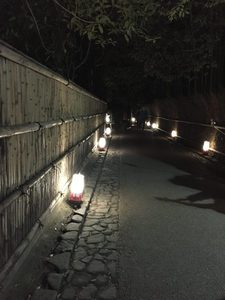 嵐山 亀山公園 灯籠の道